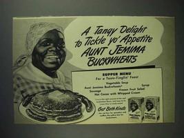 1947 Aunt Jemima Pancake Mix Ad - Tickle Yo' Appetite - $14.99