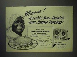 1947 Aunt Jemima Pancake Mix Ad - Whoo-ee! Appetitin' - $14.99