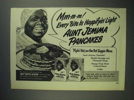 1948 Aunt Jemima Pancake Mix Ad - Happifyin' Light - $14.99