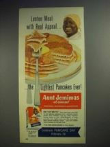 1952 Aunt Jemima Pancake Mix Ad - Lenten Meal Appeal - $14.99