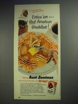 1951 Aunt Jemima Pancake Mix Ad - Entice 'Em - $14.99