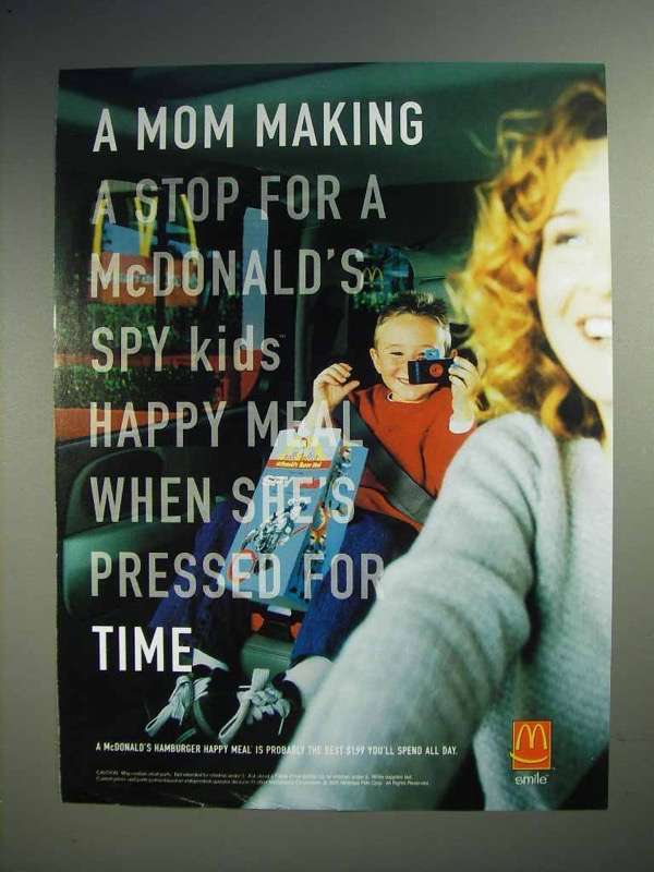 2001 McDonald's Spy Kids Happy Meal Ad - Making a Stop