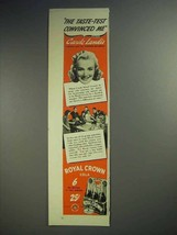 1941 Royal Crown RC Cola Soda Ad - Carole Landis - $14.99