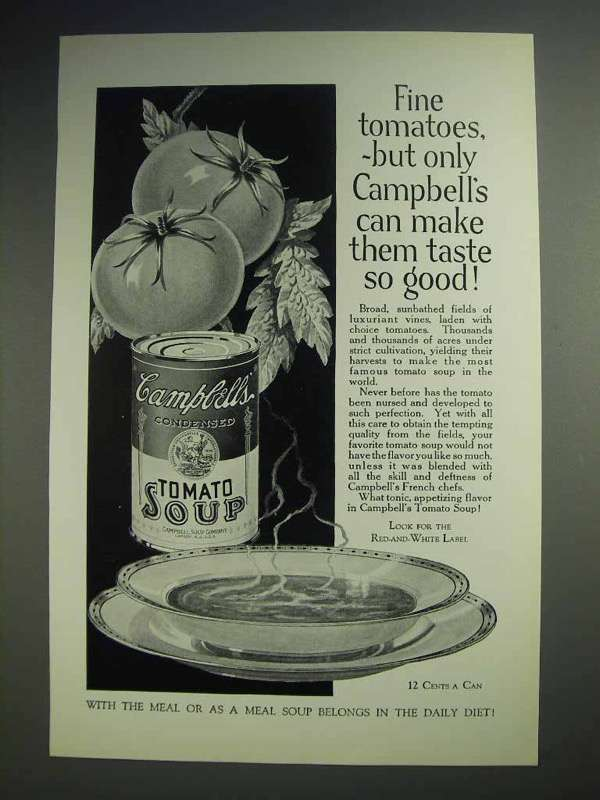 1926 Campbell's Tomato Soup Ad - Taste So Good
