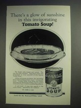 1926 Campbell's Tomato Soup Ad - A Glow of Sunshine - $14.99