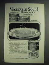 1926 Campbell's Vegetable Soup Ad - Hearty Delicious - $14.99