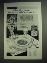 1929 Campbell's Tomato Soup Ad - Family's Favorite - $14.99