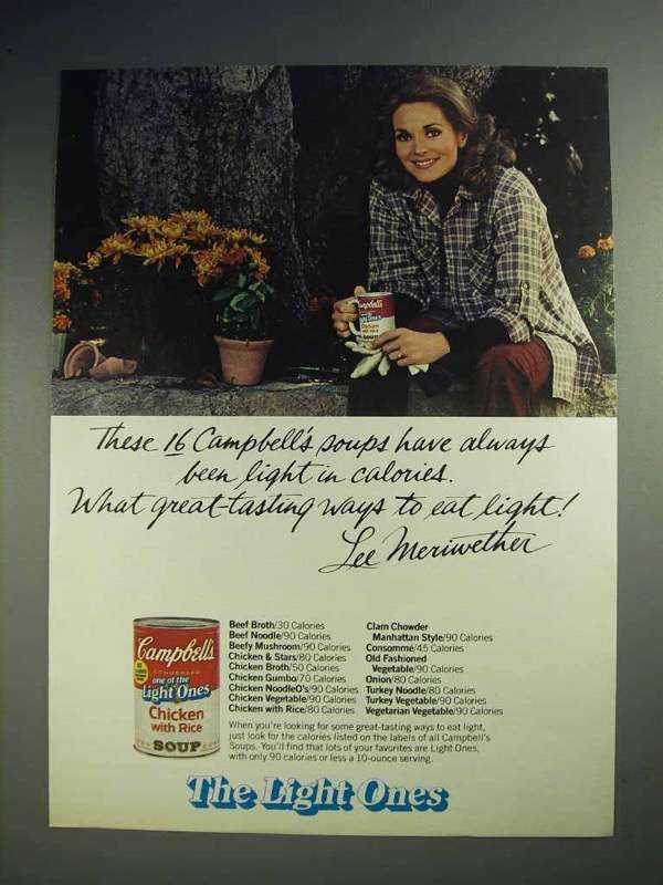 1980 Campbell's Light Ones Soup Ad - Lee Meriwether