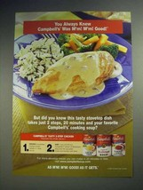 2000 Campbell's Soup Ad - Tasty 2-Step Chicken - $14.99
