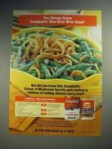 2000 Campbell's Soup Ad - Green Bean Casserole - $14.99