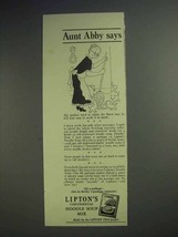 1942 Lipton's Continental Noodle Soup Mix Ad - Aunt Abby Says - $14.99