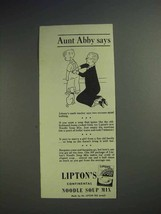 1942 Lipton's Continental Noodle Soup Mix Ad - Aunt Abby Says Math Teacher - $14.99