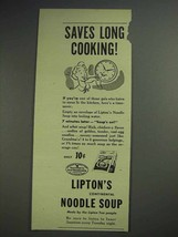 1945 Lipton's Continental Noodle Soup Ad - Saves - $14.99