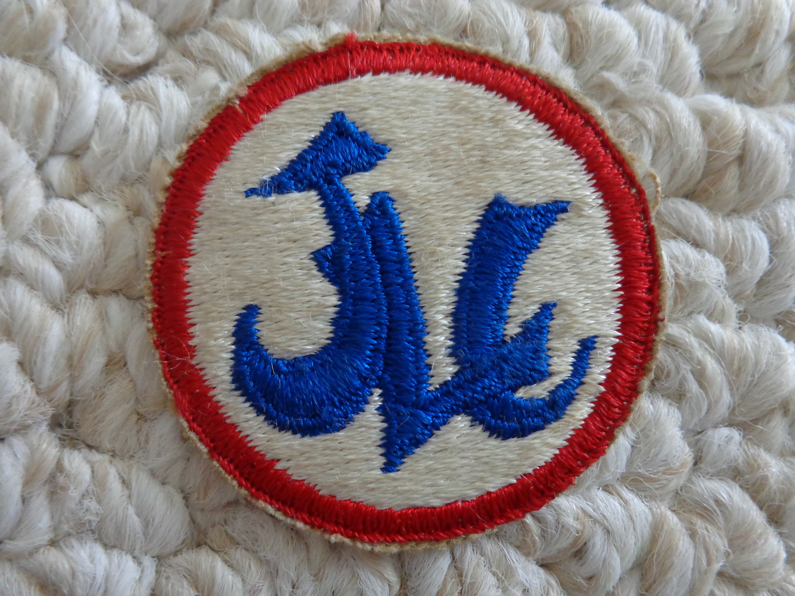 "VINTAGE ""JLC"" CLOTH PATCH (#1861)"