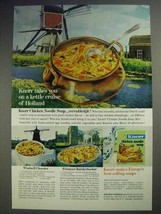 1963 Knorr Chicken Noodle Soup Ad - Cruise of Holland - $14.99