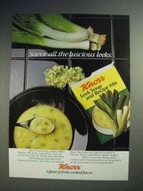 1986 Knorr Leek Soup and Recipe Mix Ad - Savor - $14.99