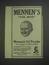 1913 Mennen's Borated Talcum Powder Ad - For Mine - $14.99