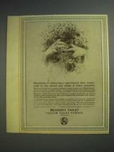1913 Mennen's Violet Talcum Toilet Powder Ad - $14.99