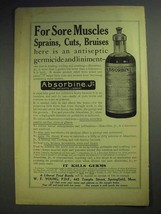 1914 Absorbine, Jr Liniment Ad - For Sore Muscles - $14.99