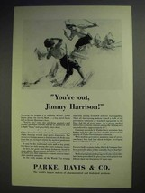 1929 Parke, Davis & Co. Pharmaceutical Ad - You're Out! - $14.99