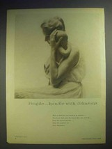 1959 Johnson's Baby Oil & Baby Powder Ad - Fragile! - $14.99