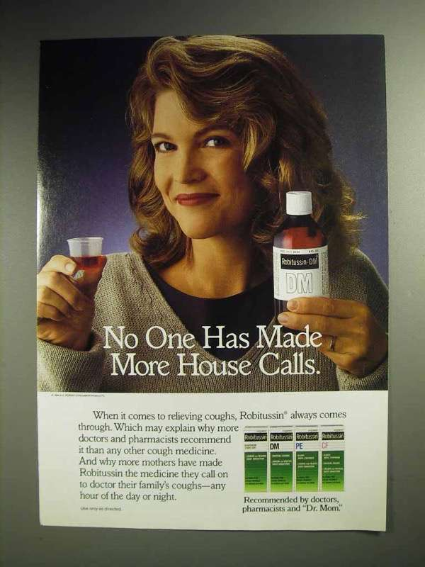 1997 Robitussin Cough Syrup Ad - Made More House Calls