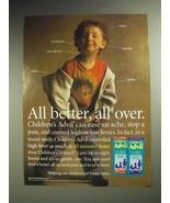 1998 Children's Advil Medicine Ad - All Better - $14.99