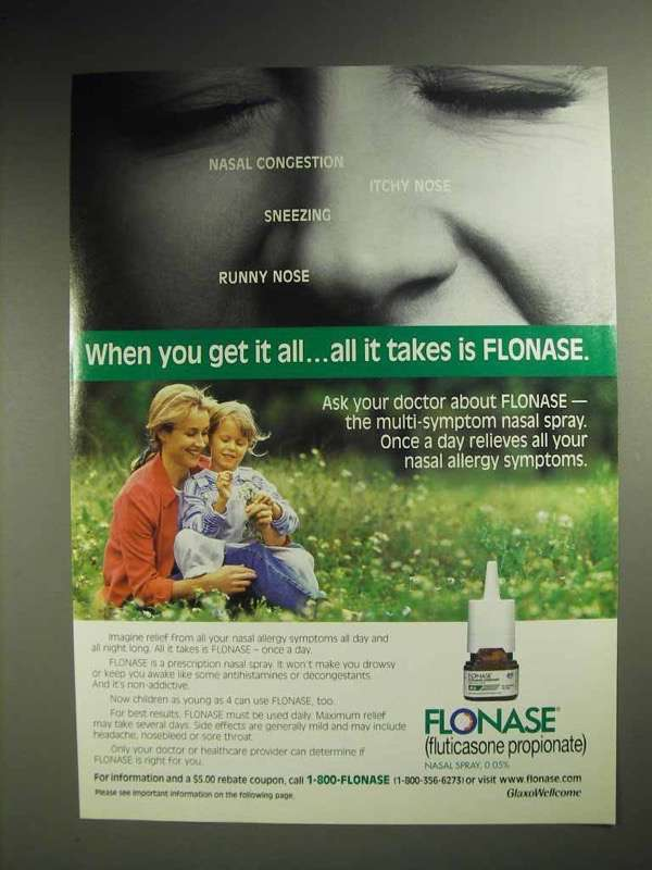 1998 GlaxoSmithKline Flonase Ad - When You Get It All