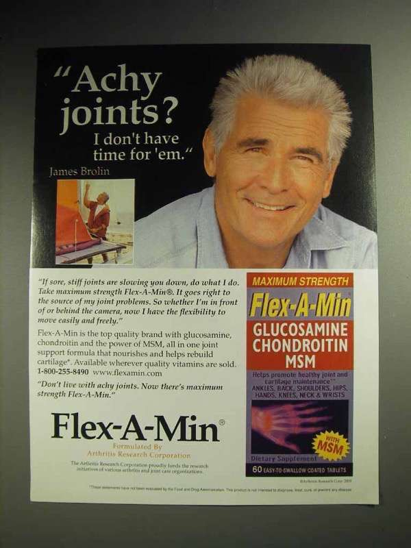2001 Flex-a-min Arthritis Supplement - James Brolin