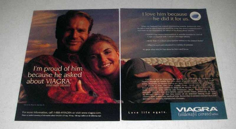 2000 Pfizer Viagra Ad - Proud Of Him Because He Asked