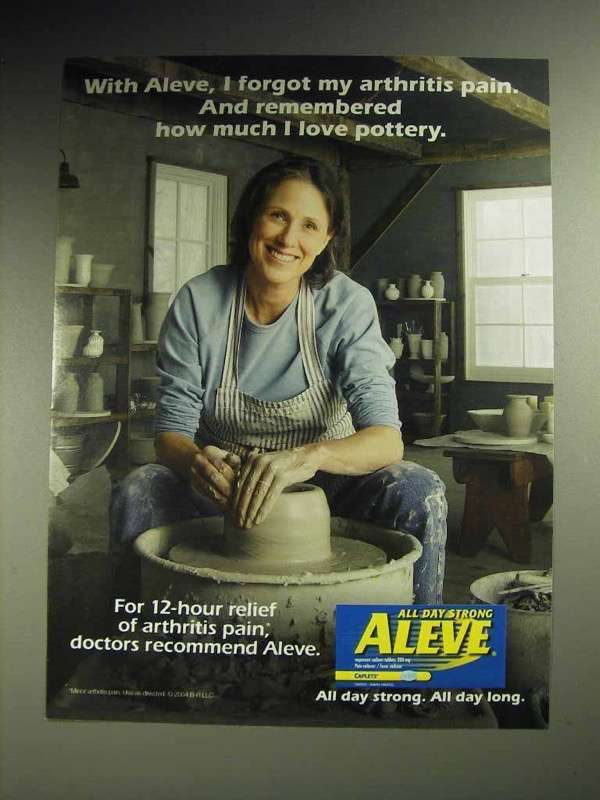 2004 Aleve Medicine Ad - Remembered I Love Pottery