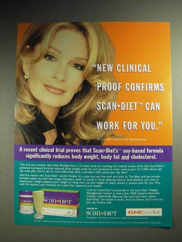 2001 Scan Diet Weight Loss Program Ad - Deidre Hall