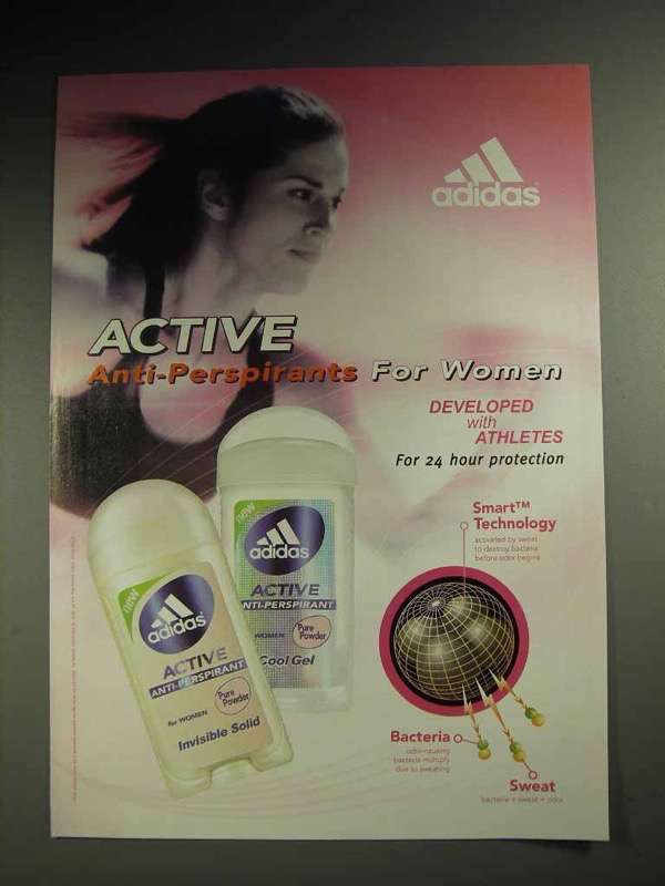 2004 Adidas Active Deodorant Ad - For Women