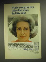 1967 Clairol Silk & Silver Hair Color Lotion Ad! - $14.99