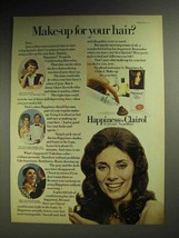 1972 Clairol Happiness Foam-in Haircolor Ad - Make-up - $14.99