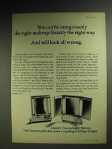 1972 Clairol True-to-Light Mirror Ad - Right Makeup - $14.99