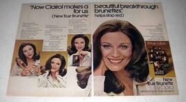 1972 Clairol True Brunette Hair Color Ad - Breakthrough - $14.99
