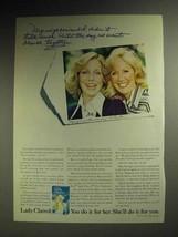 1973 Lady Clairol Ultra Blue Hair Lightener Ad - $14.99