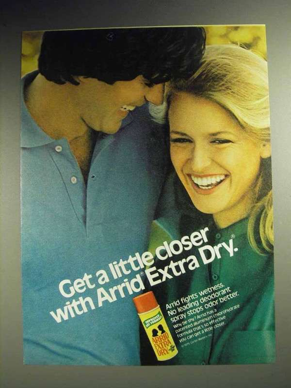 1979 Arrid Extra Dry Deodorant Ad - Get A Little Closer