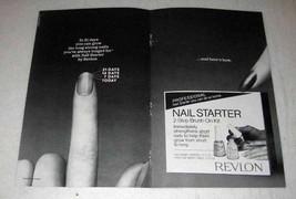 1982 Revlon Nail Starter 2-step Brush-On Kit Ad - $14.99