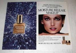 1980 Revlon Moisture Release Liquid Makeup Ad - $14.99