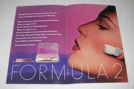 1982 Revlon Formula 2 Blush Makeup Ad - $14.99