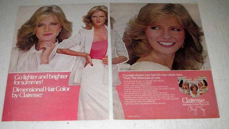 1980 Clairol Clairesse Hair Color Ad - Cheryl Tiegs
