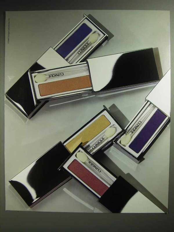 1988 Clinique Eye Shadow Makeup Ad
