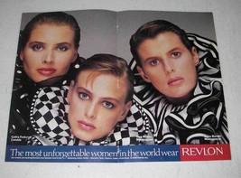 1989 Revlon Makeup Ad - The Most Unforgettable Women - $14.99