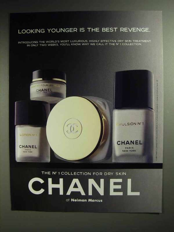 1988 Chanel Skin Care Ad - Lotion, Emulsion, Cr?me