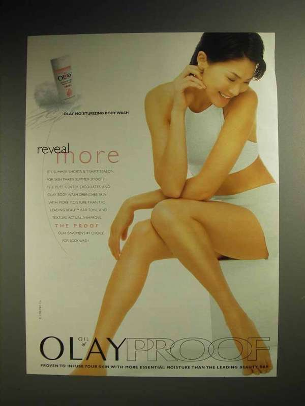 1998 Oil of Olay Moisturizing Body Wash Ad - Reveal
