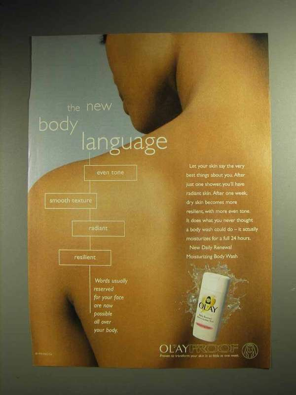 1999 Oil of Olay Daily Renewal Body Wash Ad