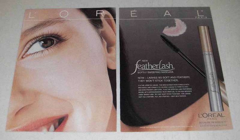 2000 L'Oreal FeatherLash Softly Sweeping Mascara Ad