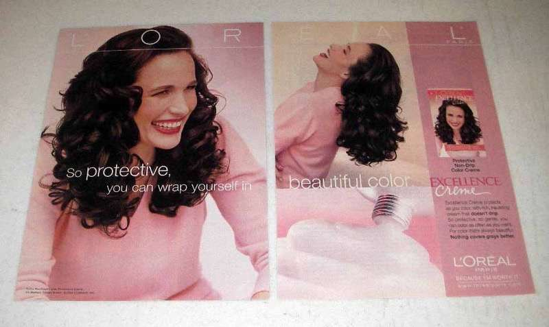 2000 L'Oreal Excellence Hair Color Ad - Andie MacDowell - So Protective